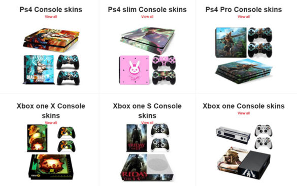 Console Skins World