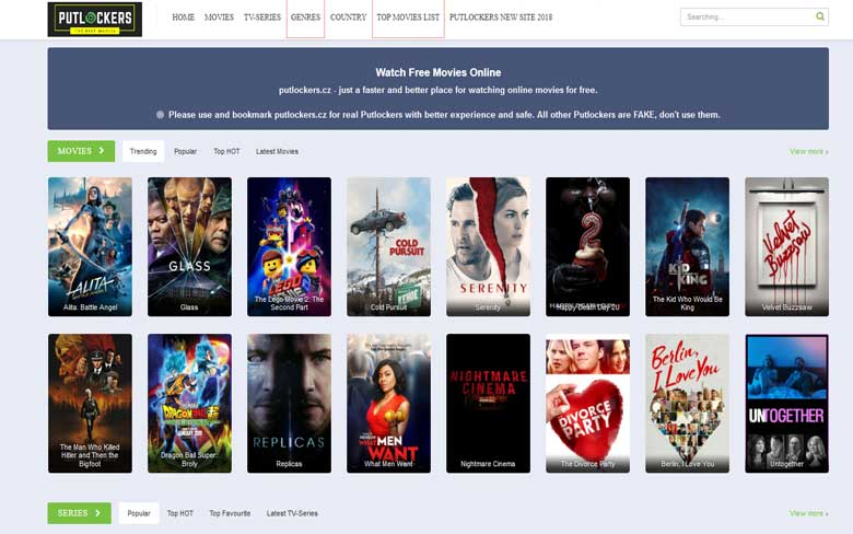 top ten websites for streaming free movies