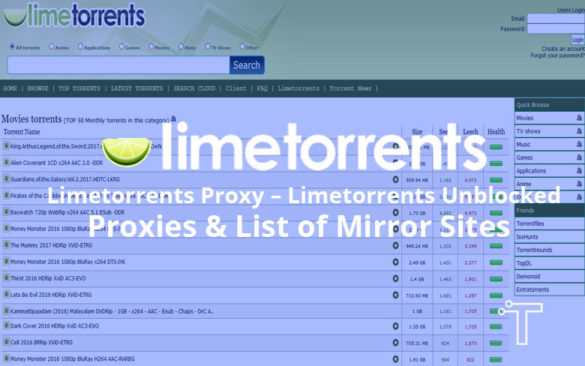 Limetorrents Proxy
