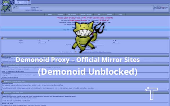 Demonoid Proxy – Official Mirror Sites 2021 (Demonoid Unblocked)