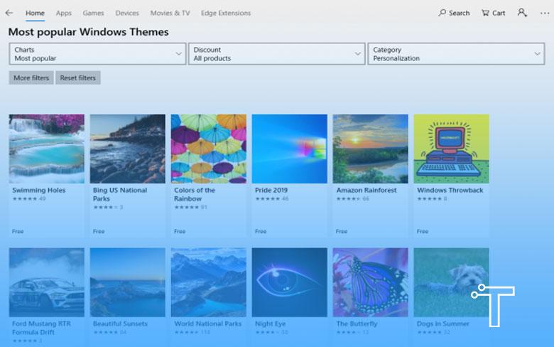 Most Popular Windows Themes