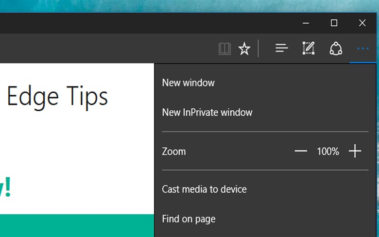 InPrivate Brpwsing in Microsoft Edge