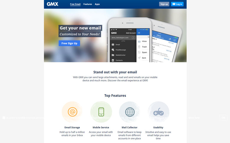GMX Email Free Email Services