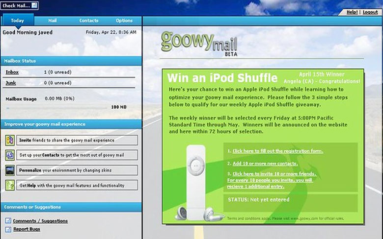 Goowy Mail Email Service
