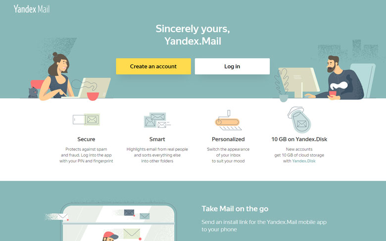 Yandex Email Best Email Service