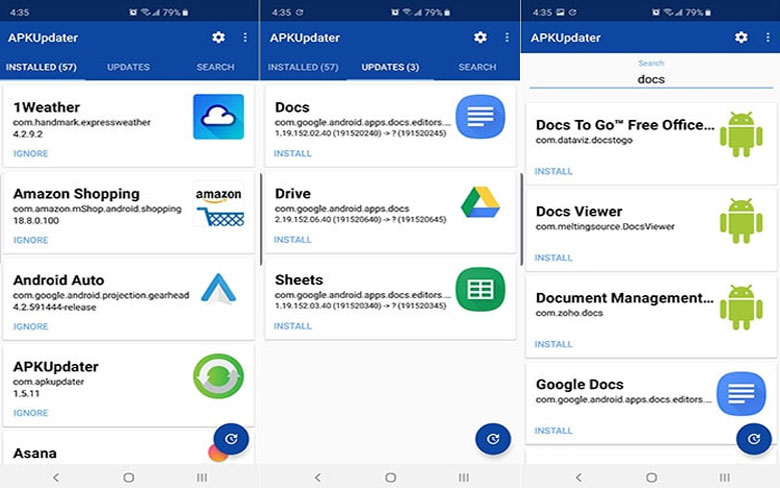 APKUpdater 3rd Party App Store For Android