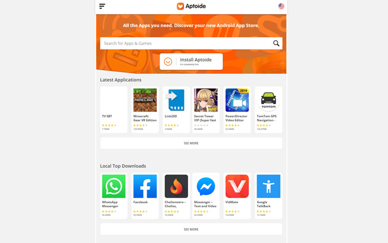Aptoide 3rd Party App Store For Android