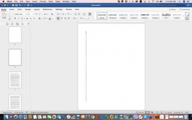 How can you delete a page in WORD on MAC - Step 3