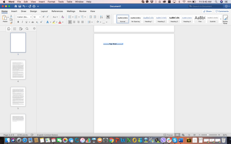 How can you delete a page in WORD on MAC - Step 4