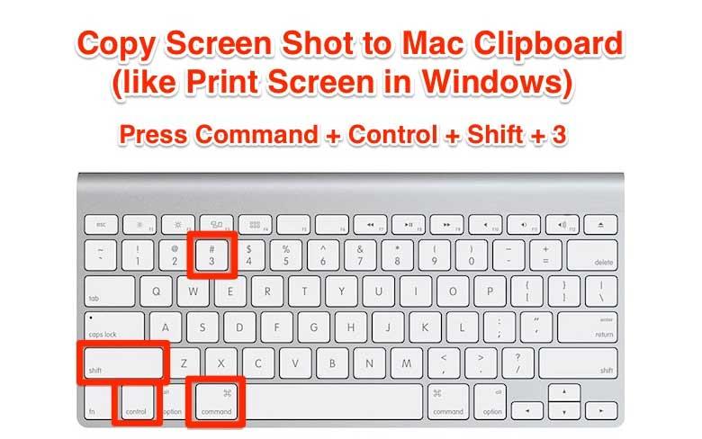 Print Screen Mac Clipboard Shortcut