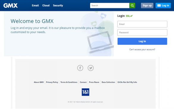GMX Webmail Account Login - Tips How To Create Account in 2021