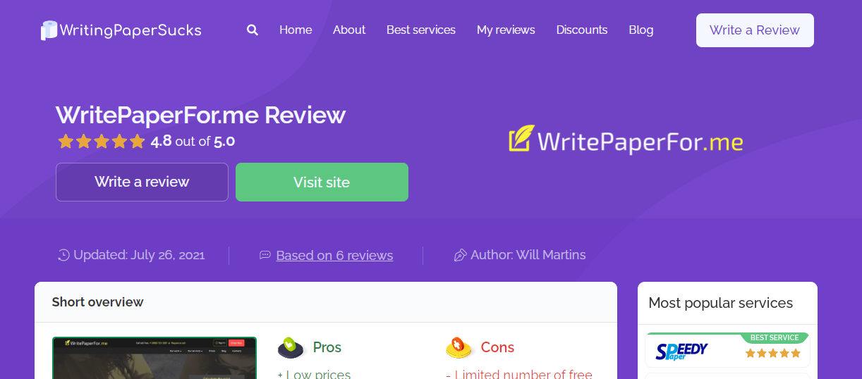 WritePaperFor.me Review